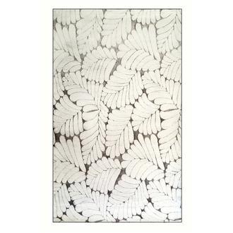 Giz Home 3D Yaprak Post Halı 120x180 cm - Gri