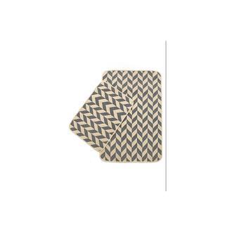 Giz Home Solo Zigzag 2'li Klozet Takımı - Krem/Gri