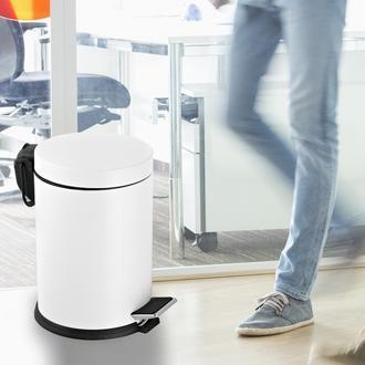 Dibanyo Pedallı Çöp Kovası (Beyaz) - 5 lt