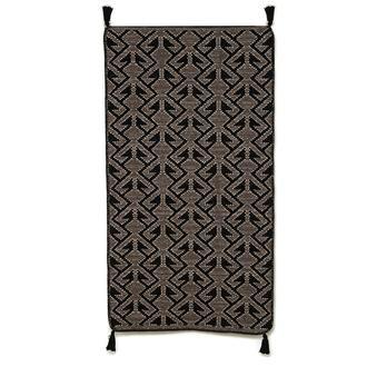 Giz Home RV2 River Kilim (Siyah) - 80x150 cm