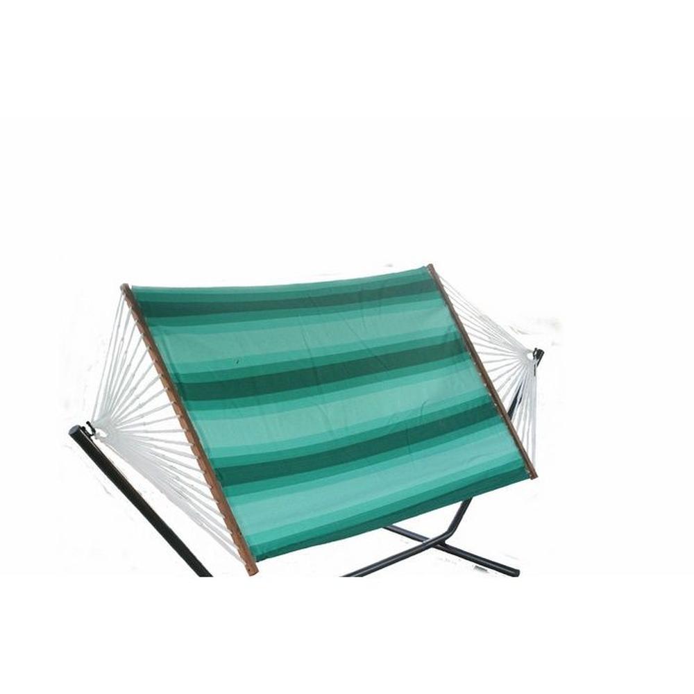 Altınoluk Çift Kişilik Bez Hamak Set - Yeşil / Beyaz