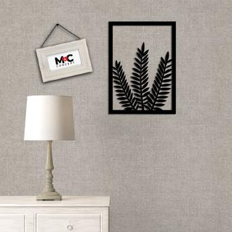 M&C Concept Leaf Metal Duvar Panosu - Siyah