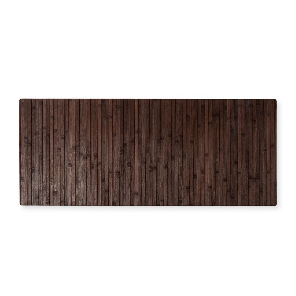Lorin Bambu Ha1091 Kaymaz Tabanlı Paspas (Koyu Kahverengi) - 50x120 cm
