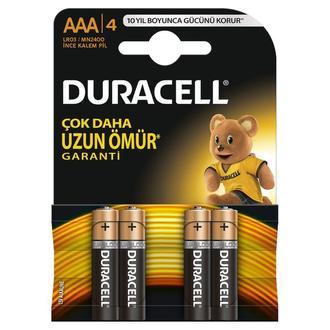Duracell Basic İnce Kalem Pil 4'lü AAA