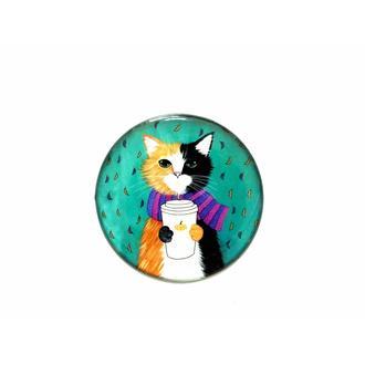 Myros Kedi Magnet - Renkli - 6,7 cm