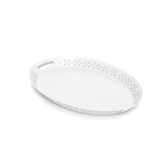 Evstyle Romantik Tepsi - Beyaz / 51x37x4 cm