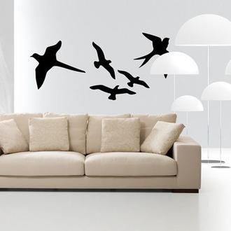 Artikel 5'li Bahar Kuşları Kadife Sticker