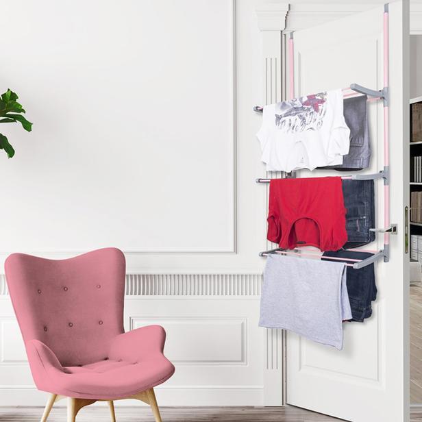 Perilla Kapı Arkası Çamaşır Kurutma Askısı