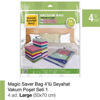 Magic Saver Bag 4'lü Vakumlu Poşet Seti