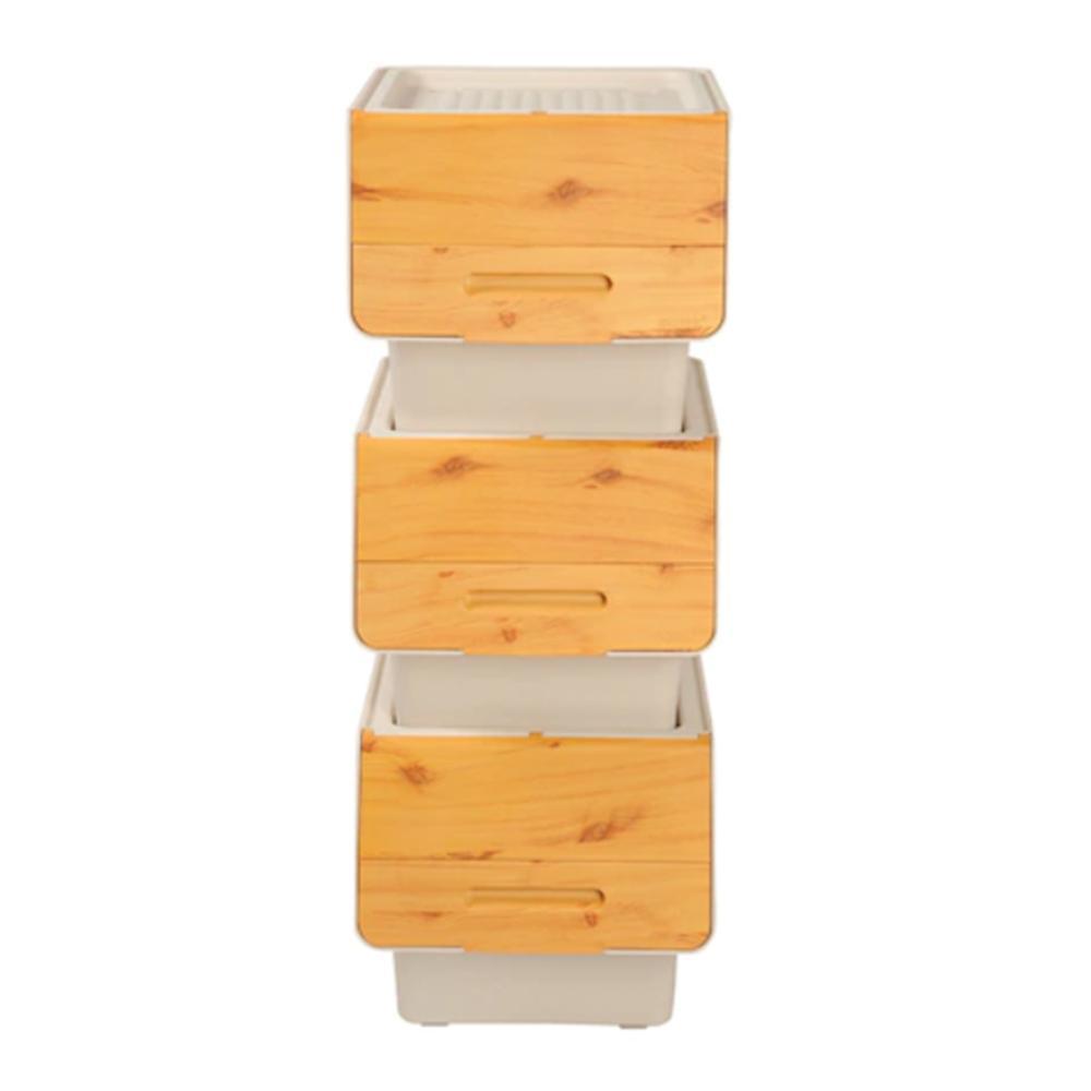 Motek Bambu Tekerlekli Organizer 12 lt
