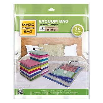 Magic Saver Bag 2'li Vakumlu Poşet Seti - L