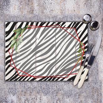 Fitifit Design Zebra Çerçeveli Amerikan Servis