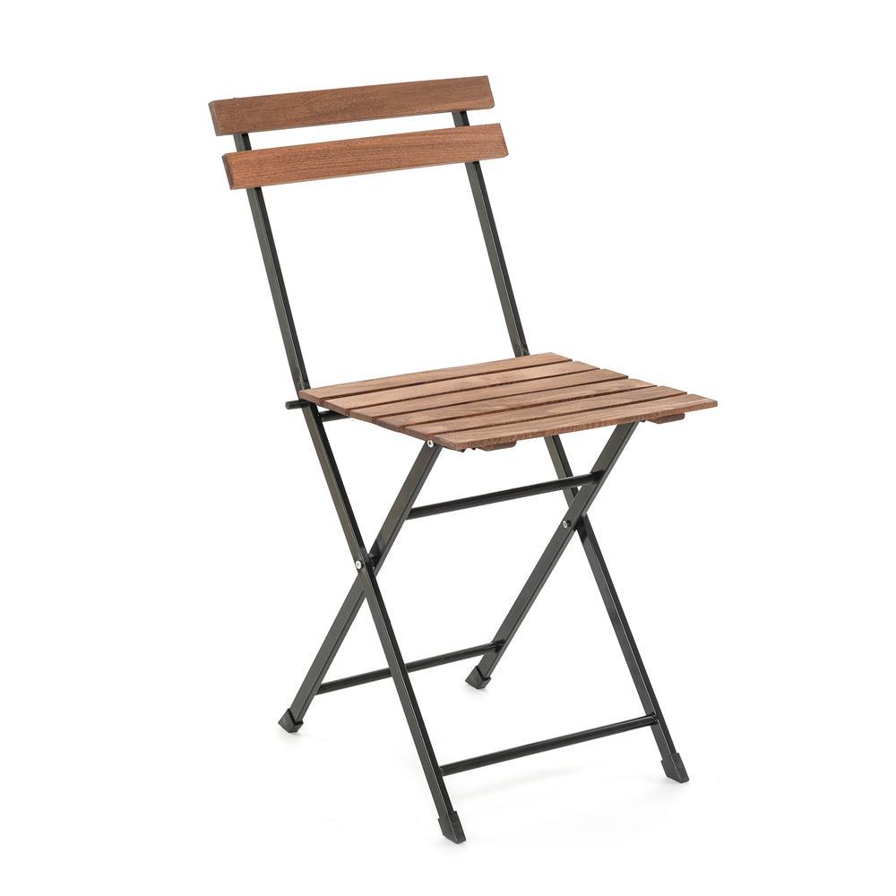 Just Home Katlanır Metal Ayaklı Masif Sandalye