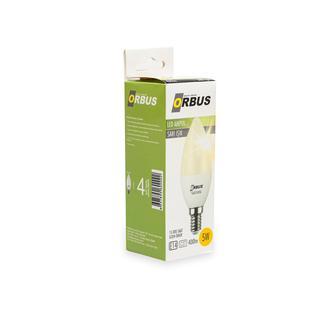 Orbus C35 5W E14 425Lm Ra70 220- 240V/50Hz 2700K Sarı Işık Ampul