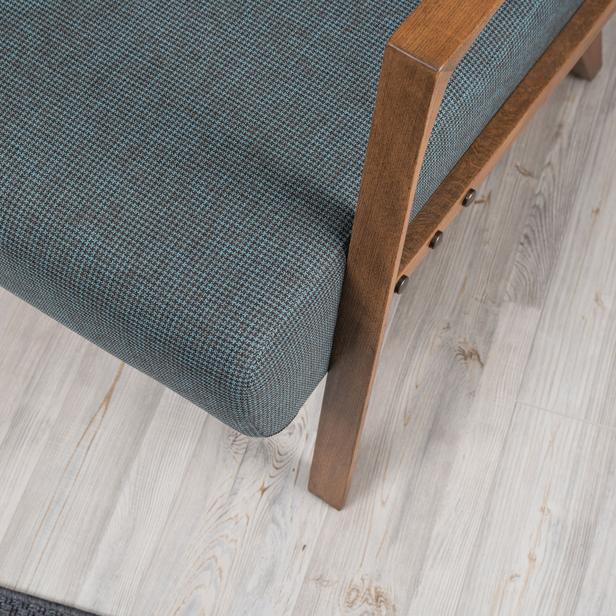 Evdebiz Kemer Demonte Berjer - Mavi/Kahverengi Kareli