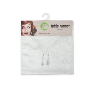 Giz Home Runner (Beyaz Simli) - 33x183 cm
