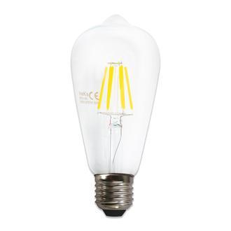 Heka St64 6W Şeffaf E27 2700K Gün Işığı Ampul