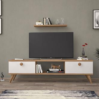 Just Home Terra 140 Cm Tv Ünitesi - Atlantik Çam/Beyaz