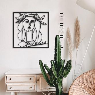 Artepera APT107 Picasso Metal Tablo ( Siyah ) - 70x70 cm