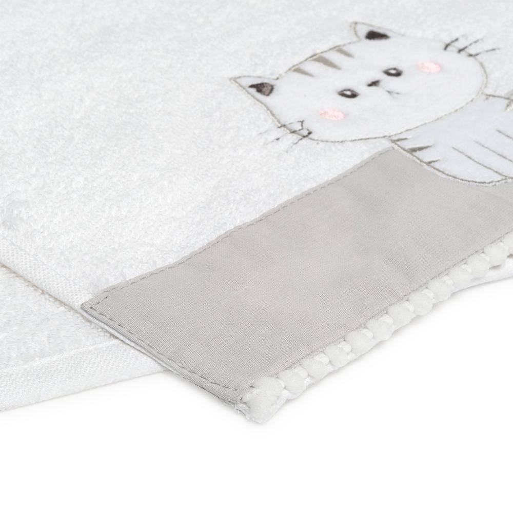 Nuvomon Kitty Çocuk Havlusu - Beyaz - 30x50 cm