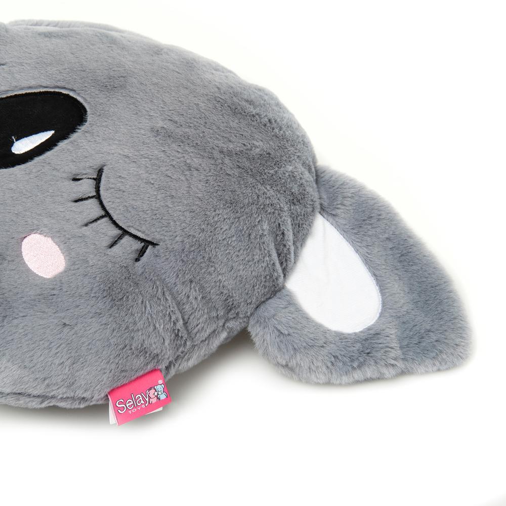 Selay Toys Koala Figürlü Yastık (Gri) - 36 cm