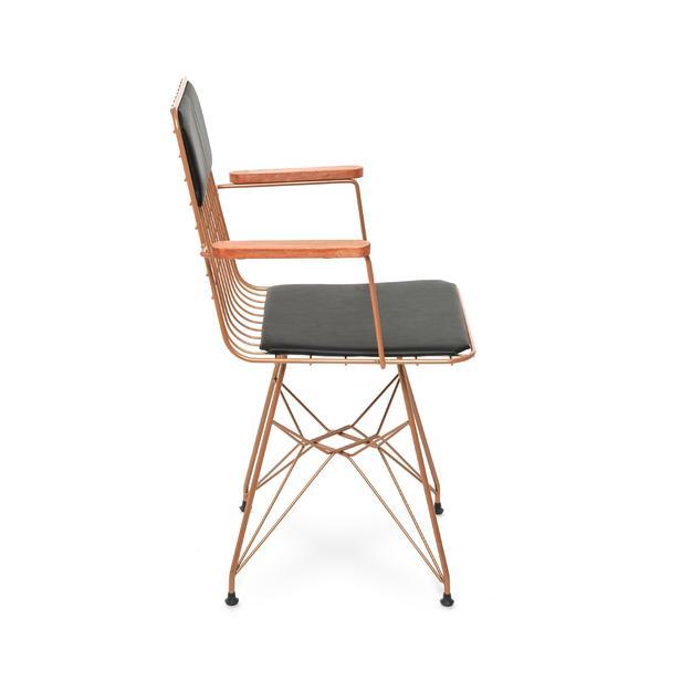 Akın Lüx Kollu Sandalye - Bakır / Siyah