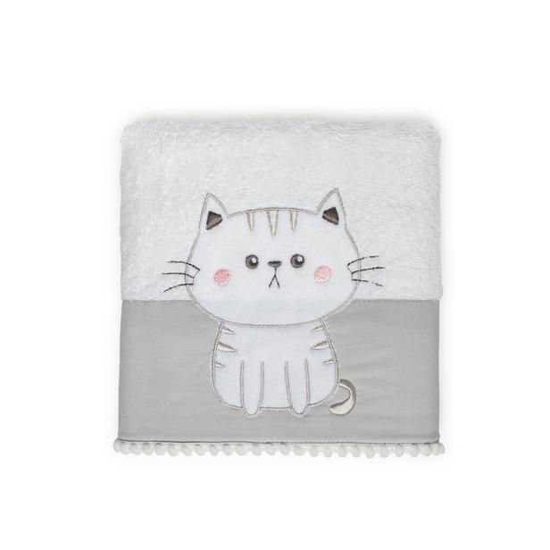 Nuvomon Kitty Çocuk Havlusu - Beyaz - 50x70 cm