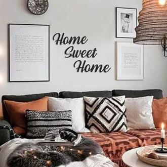 Artepera APT359 Home Sweet Home Metal Tablo ( Siyah ) - 50x16 cm