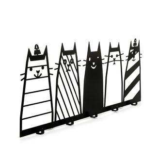 M&C Concept Cats Metal Dekoratif Askılık - Siyah