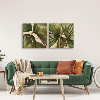 Q-Art 60x60 cm Varaklı Kanvas Tablo Seti