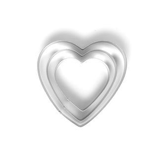 Fackelmann 3'lü Metal Kalp Şekilli Kurabiye Kesici