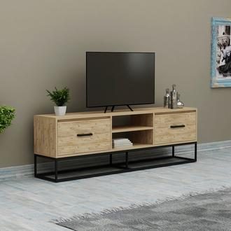 Just Home Lidya 140 cm Modern Tv Ünitesi - Atlantik Çam