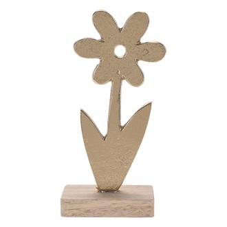 Q-Art Dekoratif Metal Çiçek - Gold