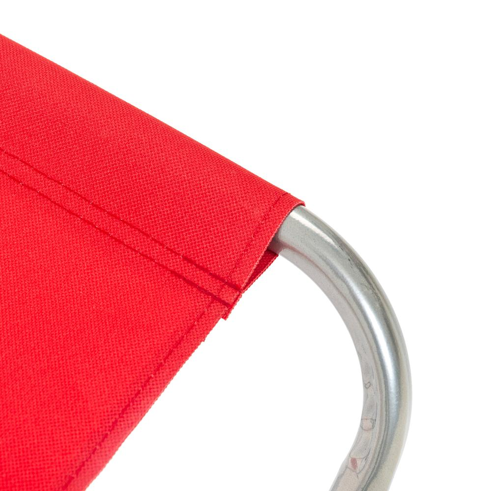 Byeren Katlanır Metal Tabure - Kırmızı