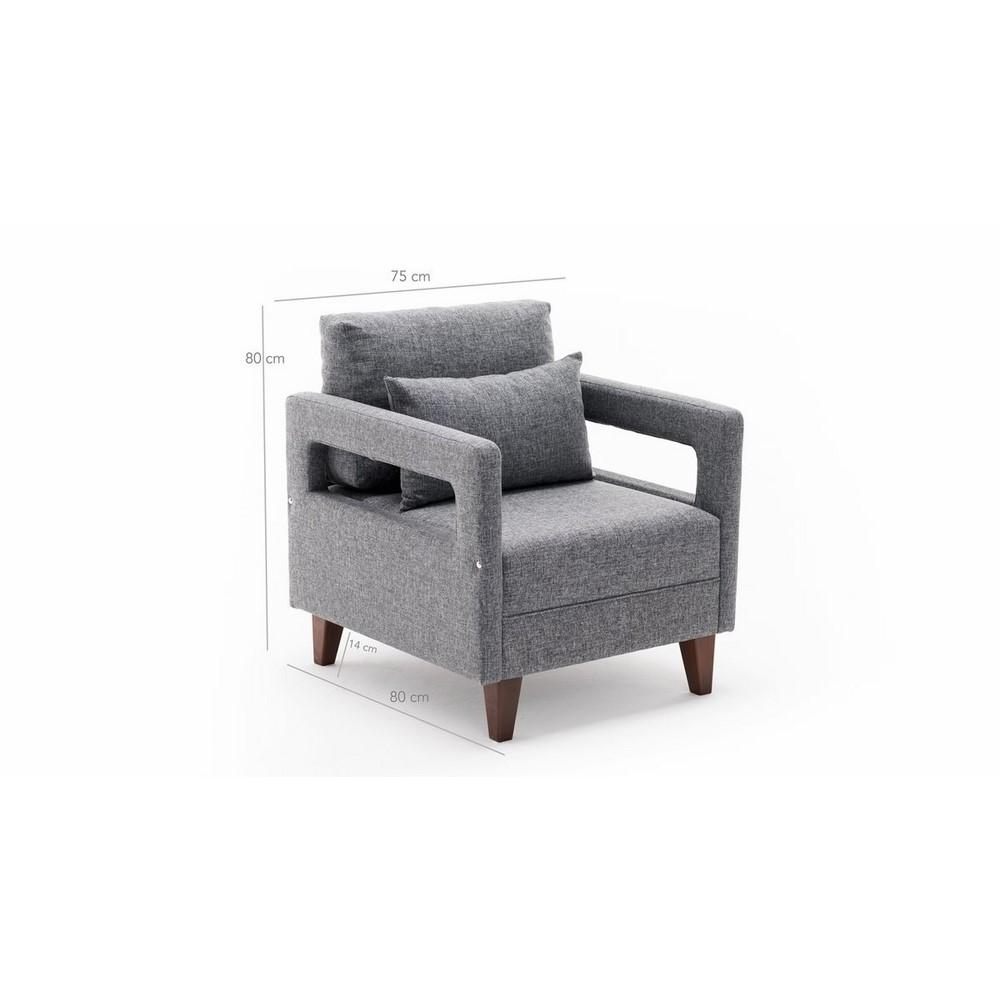 Evdebiz Comfort Berjer - Gri