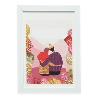 Q-Art Love Çerçeveli Tablo - 21x30 cm