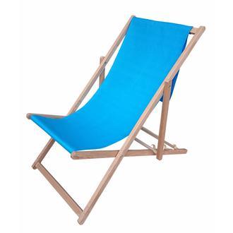 Tevalli Ahşap Katlanır Bahçe Balkon ve Plaj Sandalyesi - Turkuaz