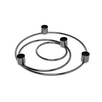 La Deco 3'lü Metal Şamdan (Siyah) - 11x18x25 cm
