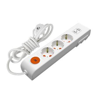 Mutlusan Ri Tech 3' lü ve USB Girişli Anahtarlı Toraklı Grup Priz - 2 Metre