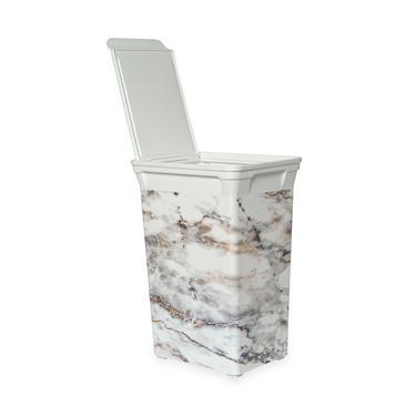 Q-Trash Bin Marble Mutfak Çöp Kovası - 40 lt