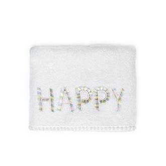 Nuvomon Happy Çocuk Havlusu - Beyaz - 50x70 cm