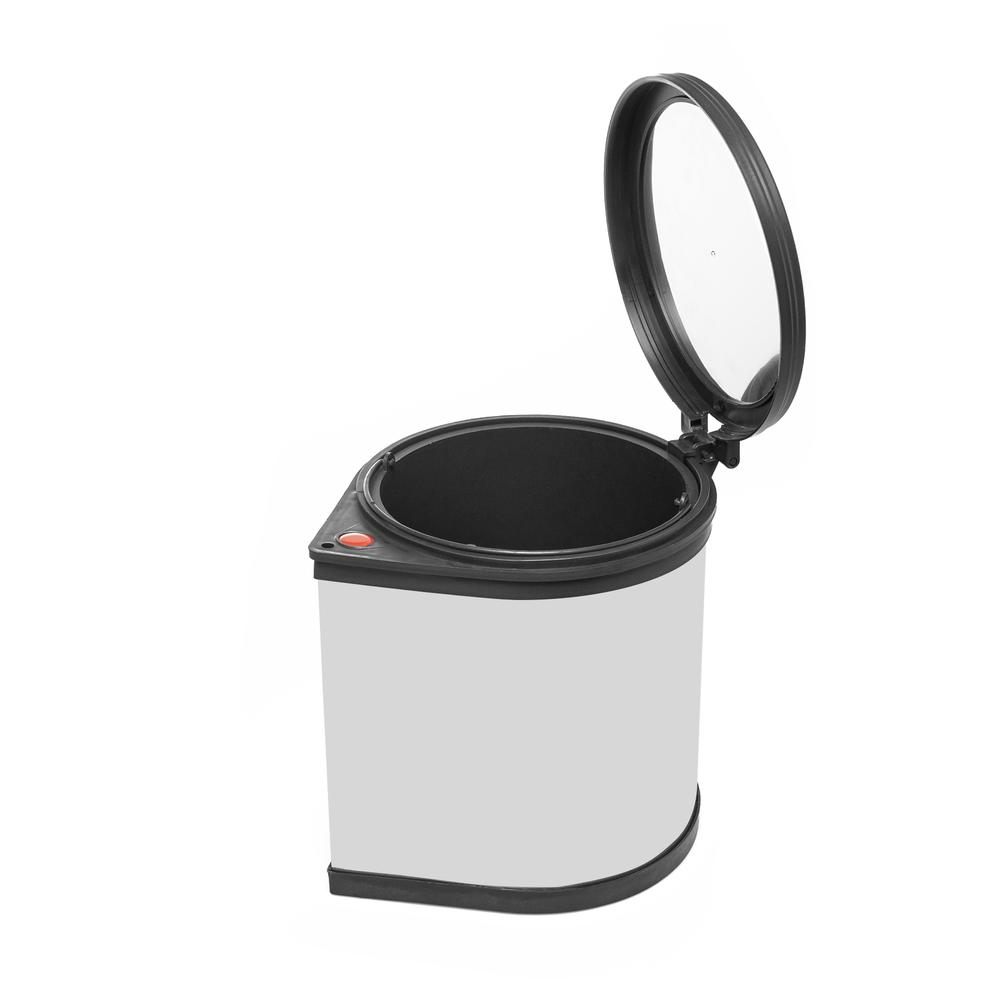 Alper Banyo Dolap İçi Çöp Kovası - Gri - 29x29x34 cm