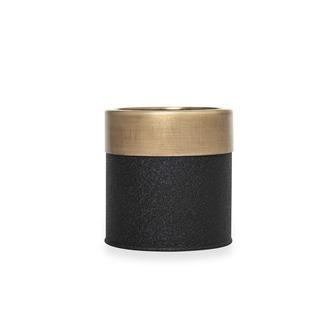 The Mia Saksı - Siyah / Gold - 13x13 cm