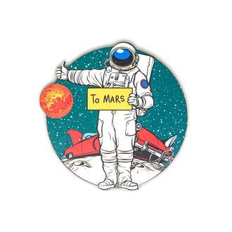 Myros Model-608 Space Ahşap Bardak Altlığı Magnet