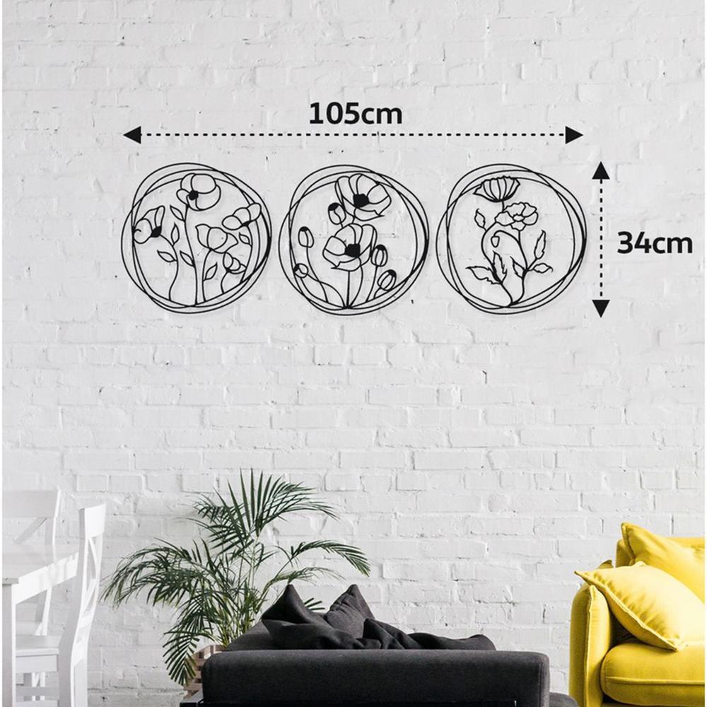 M&C Concept Rosie Metal Duvar Panosu - Siyah
