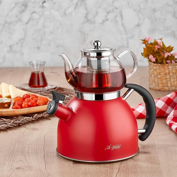 Aryıldız Kettle Mania Düdüklü Çaydanlık - Kırmızı