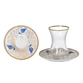 İpek Vıdrex 12 Parça Çay Seti - Mavi