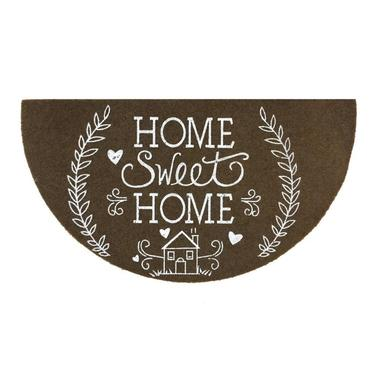Giz Home Boyalı/Megan Kapı Paspası Yarimay Kahve Home Sweet Home - 40X70 cm