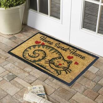 Giz Home Kalpli Kedi Koko Kapı Paspas - 33x60 cm