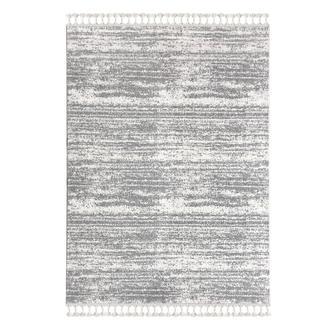 Payidar 2778A Moroccan Shaggy Halı (Beyaz/Gri) - 80x150 cm